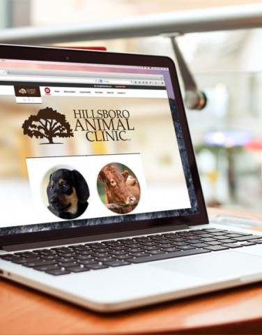 Hillsboro Animal Clinic web design