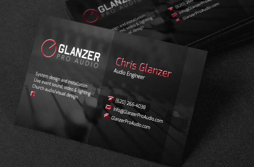 Vogel Design – Glanzer Pro Audio Business Cards